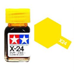 ENAMEL PAINT -  CLEAR YELLOW (1/3 OZ) EX-24