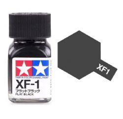 ENAMEL PAINT -  FLAT BLACK (1/3 OZ) EXF-1
