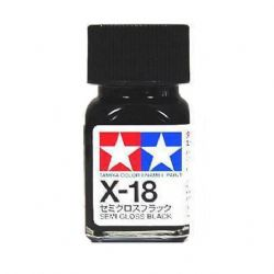 ENAMEL PAINT -  SEMI GLOSS BLACK (1/3 OZ) EX-18