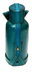 EQUIPMENT -  BOTTLE BAG LEATHER WITH BOTTLE - BLUE