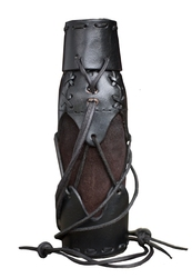 EQUIPMENT -  LEATHER BOTTLE HOLDER - BLACK
