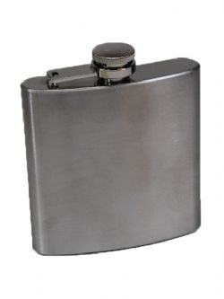 EQUIPMENT -  STAINLESS STEEL FLASK - 6OZ