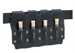 EQUIPMENT -  VIALS (4) HOLSTER - BLACK