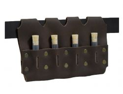 EQUIPMENT -  VIALS (4) HOLSTER - BROWN