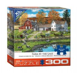 EUROGRAPHICS -  FARM BY THE LAKE (300 PIECES)
