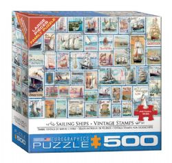 EUROGRAPHICS -  SAILING SHIPS - VINTAGE STAMPS (500 PIECES)