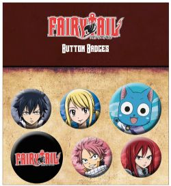 FAIRY TAIL -  SET OF 6 PINS
