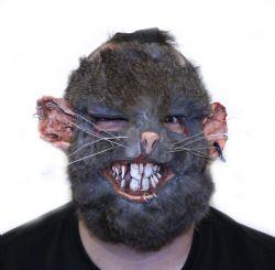FANTASY -  DELUXE RAT-MEN (GREY) MASK WITH NET