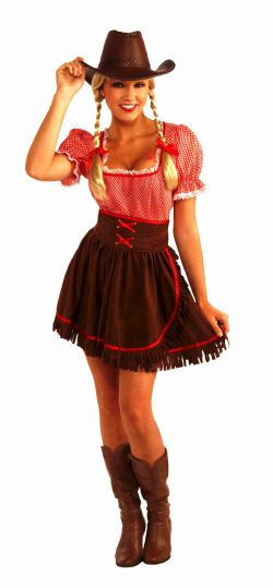 FAR WEST -  COWPOKE CUTIE COSTUME (ADULT - ONE SIZE)