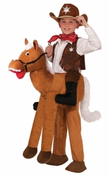 FAR WEST -  RIDE-A-HORSE COSTUME (CHILD - ONE SIZE)