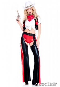 FAR WEST -  RIDE 'EM COWGIRL COSTUME(ADULT)