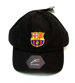 FC BARCELONA -  LOGO ADJUSTABLE CAP - BLACK