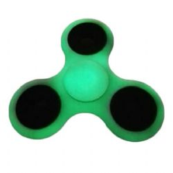 FIDGET - HAND SPINNERS -  FIDGET SPINNER GLOW IN THE DARK - GREEN