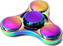 FIDGET - HAND SPINNERS -  METALLIC FIDGET SPINNER - RAINBOW