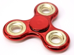 FIDGET - HAND SPINNERS -  METALLIC FIDGET SPINNER - RED