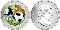 FIFA MEN'S WORLD CUP -  SOCCER FIFA WORLD CUP -  2014 CANADIAN COINS
