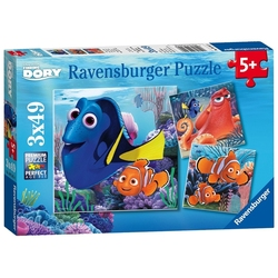 FINDING NEMO -  FINDING DORY (3X49 PIECES) - 5+ -  FINDING DORY