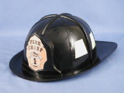 FIREFIGHTERS -  FIREMAN HAT - BLACK (ADULT)