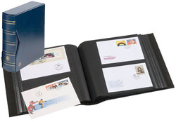 FIRST DAY COVER -  BLUE ALBUM AND CASE FOR 200 FIRST DAY COVERS