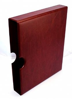 FIRST DAY COVER -  BURGUNDY SLIPCASE FOR