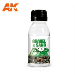FIXER -  GRAVEL AND SAND FIXER (3 OZ) -  AK INTERACTIVE