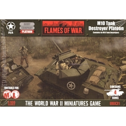 FLAMES OF WAR -  M10 TANK DESTROYER PLATOON (4) -  AMERICAN