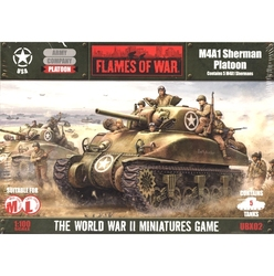 FLAMES OF WAR -  M4A1 SHERMAN PLATOON (5) -  AMERICAN
