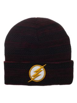 FLASH -  BEANIE WITH FLASH LOGO - BLACK AND RED