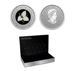 FLORAL EMBLEMS OF CANADA -  ONTARIO: WHITE TRILLIUM (COIN IN SUBSCRIPTION BOX) -  2020 CANADIAN COINS 01