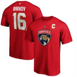FLORIDA PANTHERS -  ALEKSANDER BARKOV #16 T-SHIRT - RED