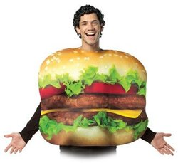 FOOD -  CHEESEBURGER COSTUME (ADULT - ONE-SIZE)