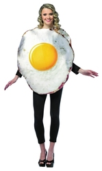 FOOD -  FRIED EGG COSTUME (ADULT - ONE-SIZE)