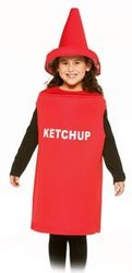 FOOD -  KETCHUP COSTUME (CHILD - 7-10)