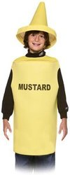 FOOD -  MUSTARD COSTUME (CHILD - 7-10)