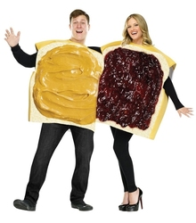 FOOD -  PEANUT BUTTER AND JELLY COSTUME (ADULT - ONE-SIZE) -  COUPLE COSTUME