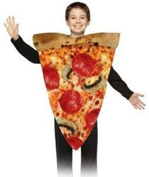 FOOD -  PIZZA SLICE COSTUME (CHILD - 7-10)