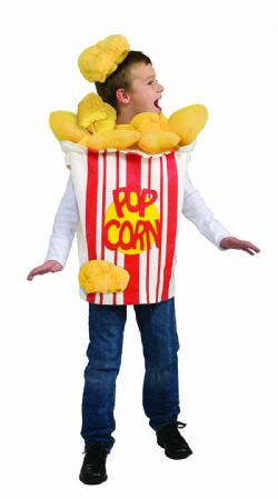 FOOD -  POP CORN COSTUME (CHILD - ONE SIZE)