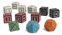 FORBIDDEN LANDS -  DICE SET (ENGLISH)