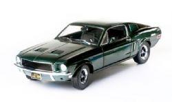 FORD -  1968 FORD MUSTANG GT, STEVE MCQUEEN BULLITT 1/18 - GREEN