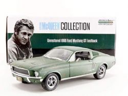 FORD -  1968 MUSTANG GT FASTBACK 1/24 - GREEN -  STEVE MCQUEEN COLLECTION