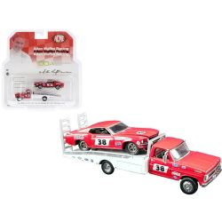 FORD -  F350 W/1969 MUSTANG WITH FORD F-350 RAMP TRUCK- 1:64 SCALE