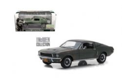 FORD -  UNRESTORED 1968 MUSTANG GT FASTBACK 1/24 - GREEN -  STEVE MCQUEEN COLLECTION