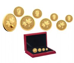 FRACTIONAL SETS -  125TH ANNIVERSARY OF THE KLONDIKE GOLD RUSH - 4-COIN SET -  2021 CANADIAN COINS 11