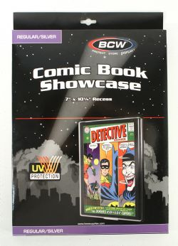 FRAME -  SHOWCASE FOR REGULAR AND SILVER FORMAT COMIC BOOK - BLACK