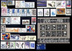 FRANCE -  1986 COMPLETE YEAR SET, NEW STAMPS