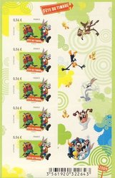 FRANCE -  BUGS BUNNY & DAFFY DUCK - 2009 MINI-SHEET