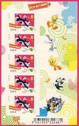 FRANCE -  SYLVESTER THE CAT & TWEETY - 2009 MINI-SHEET