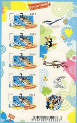 FRANCE -  WILE E. COYOTE & ROAD RUNNER - 2009 MINI-SHEET