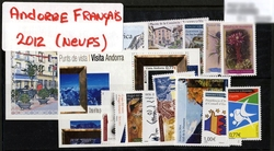 FRENCH ANDORRA -  2012 COMPLETE YEAR SET, NEW STAMPS