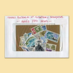 FRENCH SOUTHERN AND ANTARCTIC LANDS -  1991 COMPLETE YEAR SET, NEW STAMPS